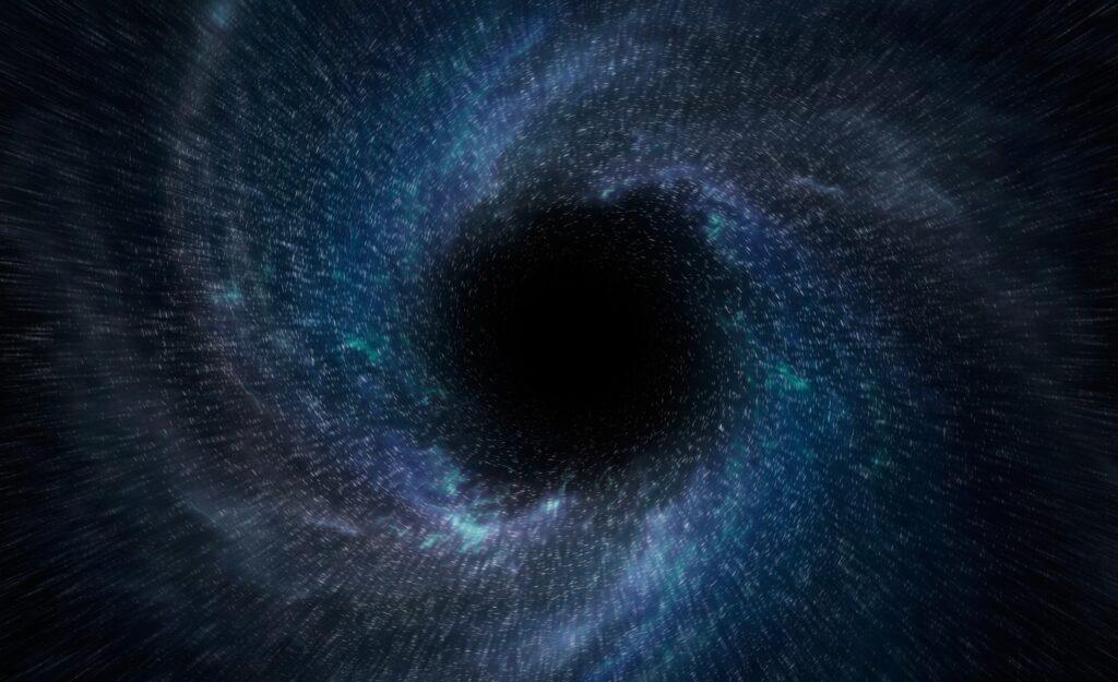 Una de las variantes de la imagen del agujero negro primordial