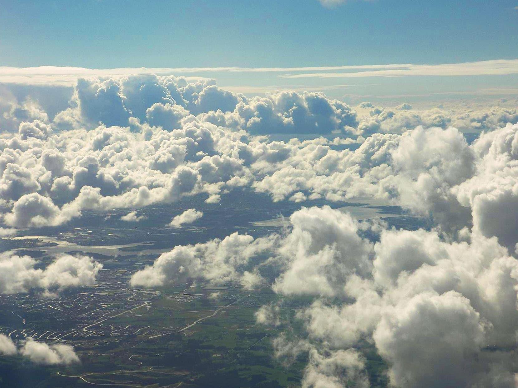 nubes altocúmulos