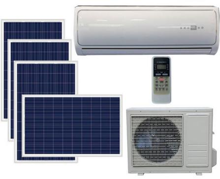 aire acondicionado mediante paneles solares